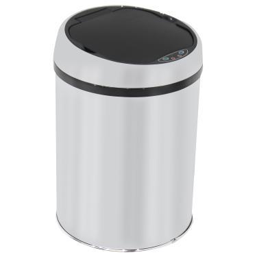 Lixeira Automática Inox com Sensor Balde Interno Removível 9 Litros
