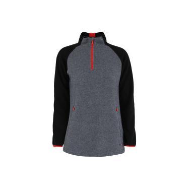 Blusa de Frio Fleece Nord Outdoor Bicolor - Feminina - CINZA ESCURO PRETO Nord  Outdoor 1644bf94cfd
