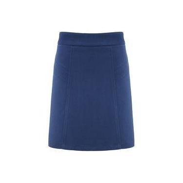 Saia Feminina Godê com Recortes Azul Seiki 240102