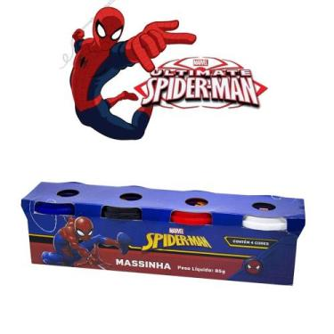 Imagem de Kit Massinha De Modelar Homem Aranha Spiderman Marvel 4 Cores Sortidas