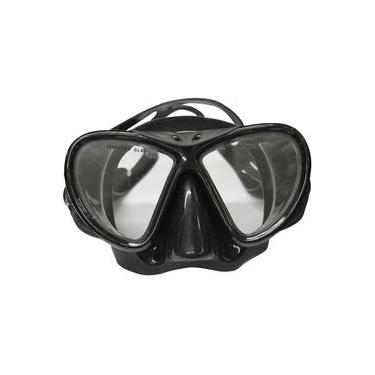 Máscara Mergulho Black Lente Dupla Protetor Nasal Nautika