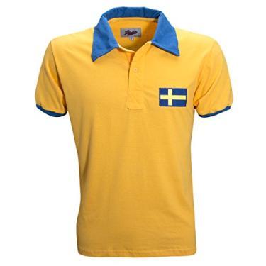 Camisa Liga Retrô Suécia 1958