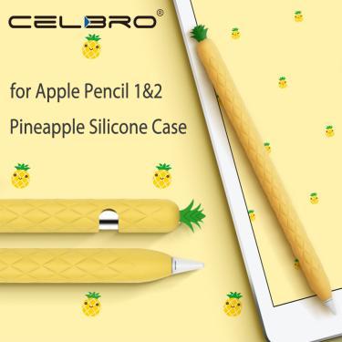 Imagem de Luva de silicone de abacaxi macia para apple pencil, 1 lápis, 2 estojos, tablet, toque em caneta,
