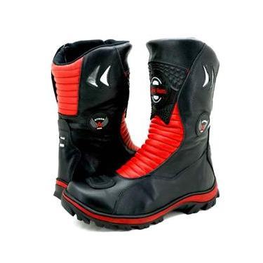 Bota Atron Shoes 302 Preta/Vermelha
