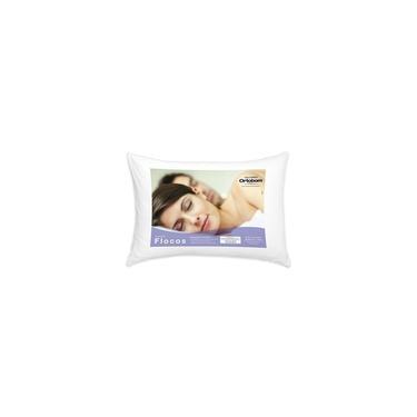 Travesseiro Ortobom Flocos Espuma Flocada + TNT Branco