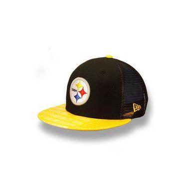 Pechinchas-47% Bone 950 Pittsburgh Steelers Nfl Aba Reta Strapback ... db4bec406ab