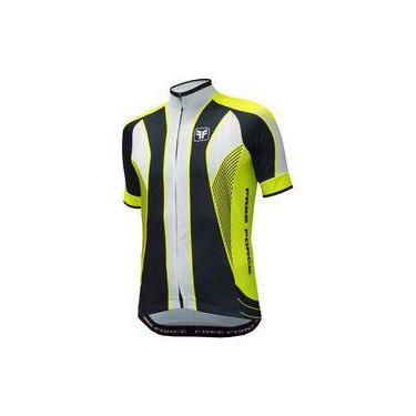 Camisa Ciclismo Free Force Blaster Amarelo Fluor