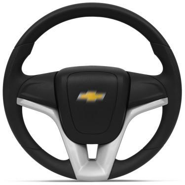 Imagem de Volante Esportivo Universal Sem Cubo Prata com Acionador de Buzina Modelo Cruze
