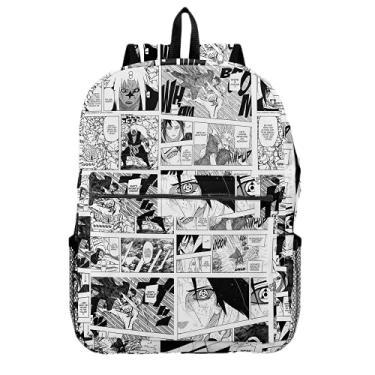Imagem de Mochila Escolar Sasuke Anime Naruto Mangá Tumblr