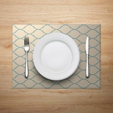 Imagem de Jogo Americano Mdecore Geométrico 40x28cm Bege 2pçs