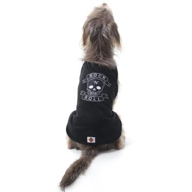 Capa para Cachorros Caveira Rockeiro P