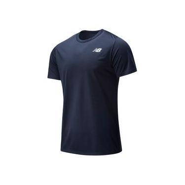 Camiseta de Manga Curta New Balance Sport Tech | Masculino Azul - P