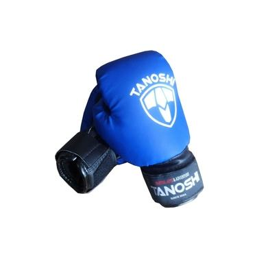 Luva Boxe Infantil Azul MuayThai Sanda Kick Tanoshi