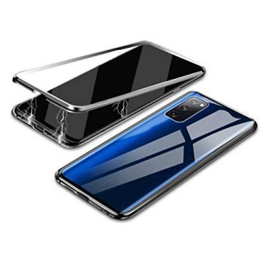 Hicaseer Capa para Galaxy S20 FE, capa protetora transparente antiarranhões magnética antiderrapante para Samsung Galaxy S20 FE, prata
