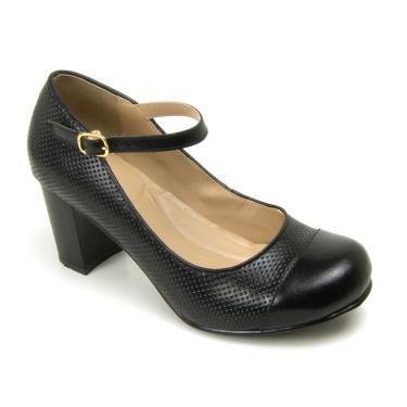 Sapato Estilo Boneca Gasparini Preto