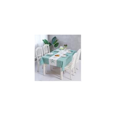 Imagem de Toalha de mesa de plástico de pvc Toalha de mesa oleada com padrão xadrez Tapete de mesa de café Toalha de mesa impermeável retangular