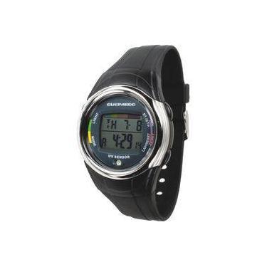 a19ddc58a Relógio Digital Com Indicador De Intensidade Ultravioleta Uv Master Black -  Guepardo