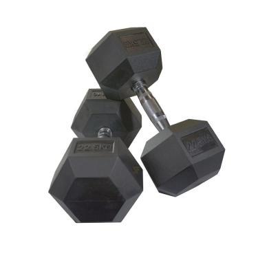 Par de Halteres Dumbell Sextavado Ahead Sports AS2102 22,5kg