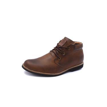 Bota Shoes Grand Casual New York Taupe Tamanho Grande  masculino