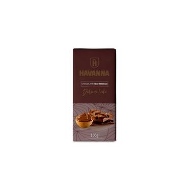 Barra Chocolate Meio Amargo Havanna Recheio Doce De Leite