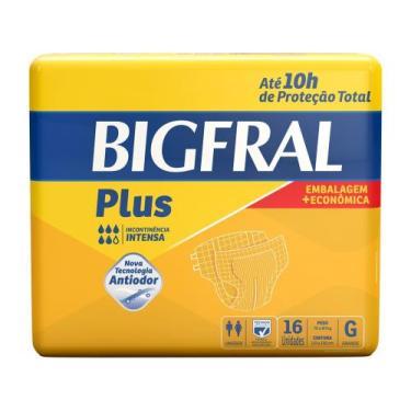Fralda Geriátrica Bigfral Plus G - 18 Unidades