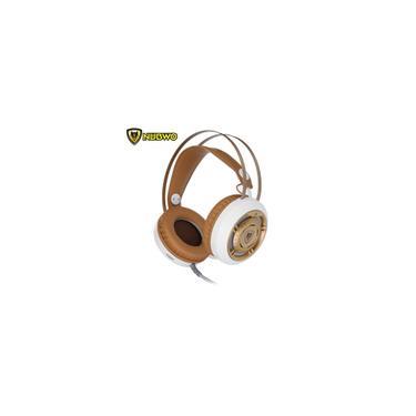 Nubwo N1 LED para luz respiratória para jogos Fone de ouvido profissional estéreo de graves profundos com microfone com cancelamento de ruído para laptop pubg pc