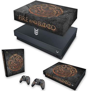 Capa Anti Poeira e Skin para Xbox One X - Game Of Thrones Targaryen