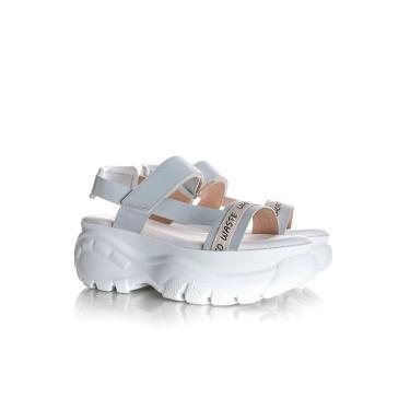 Sandalia Papete Bruna Plataforma Buf Branco  feminino