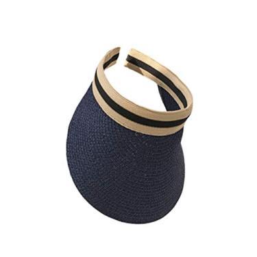 PRETYZOOM Chapéu de praia vazio portátil com proteção solar ao ar livre estilo simples casual chapéu para exterior (azul marinho)