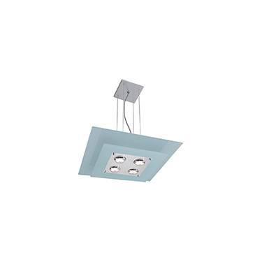 Pendente 31223 Alumínio/Vidro Vidro Branco - Pantoja&Carmona