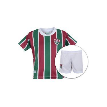de77257934f5a Kit de Uniforme de Futebol do Fluminense  Camisa + Calção - Infantil -  VERDE