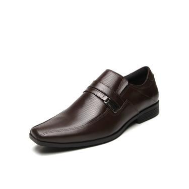 Sapato Social Couro Ferracini Liso Marrom Ferracini 4068-281H masculino