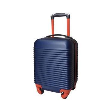 Mala de Viagem Exeway Pequena com Puxador Retrátil e Rodas 360, Azul