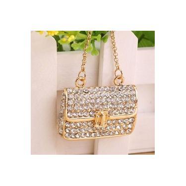 Senhora Mulheres Favor Adorável Bolsa Chaveiro Saco Padrão Dourado Moda Charme Bolsa Chaveiro Pingente de Presente