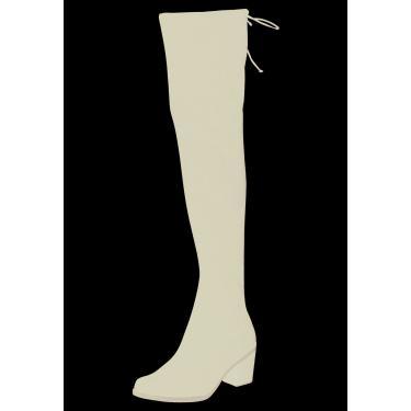 Bota Domidona Salto Over The Knee Preta  feminino