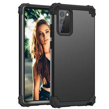 Capa ZERMU para Galaxy Note 20, proteção resistente à prova de choque, plástico rígido + silicone Armor Defender alto impacto resistente bumper capa protetora de corpo inteiro anti-arranhões para Samsung Galaxy Note 20 5G 6,5 polegadas 2020