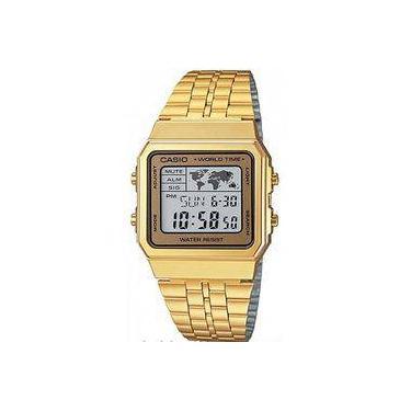 7f77aebf36e Relógio Masculino Casio Vintage World A500wga9df - Dourado