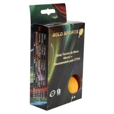Caixa Com 6 Bolas Para Tenis De Mesa 2 Estrelas Gold Sports - Unissex