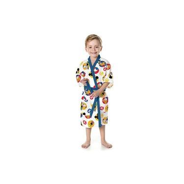 Roupão Felpudo Infantil Quimono Estampado Mickey Pp com 1 Peça - Lepper