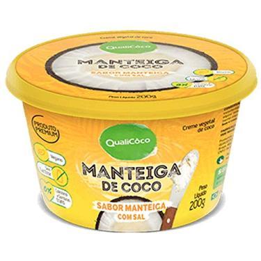 MANTEIGA DE COCO C/SAL 200g