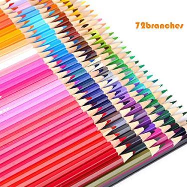 Lápis de cor entweg, 72 cores, lápis de desenho de lápis de madeira de cor profissional a óleo, lápis de grafite para escola, esboços, materiais de arte para lápis, 72 colors