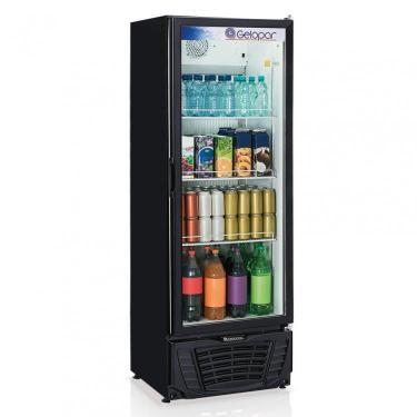 Refrigerador Expositor Vertical 414L Profissional Gelopar 220V 295W Preto