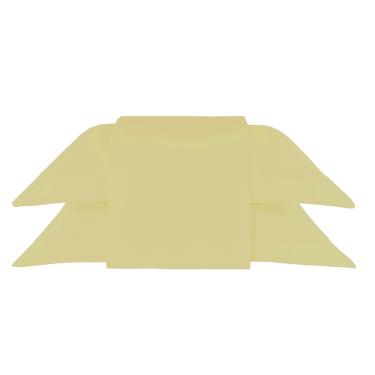 Imagem de Kit 10 Fronhas Com Abas cor Amarela Percal 180 Fios