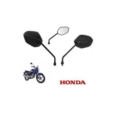 Espelho Retrovisor Preto Original Honda Cg Titan Fan 125 150 160 2014 2015 2016 2017 2018 2019 2020 Ks Es Esd Ex Start