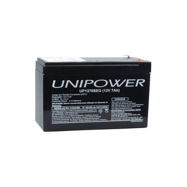 Bateria Estacionária VRLA 12V 7Ah Unipower para Segurança UP1270SEG