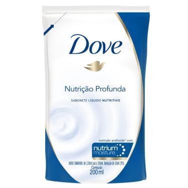 Refil Sabonete Líquido Dove Nutrição Profunda 200ml