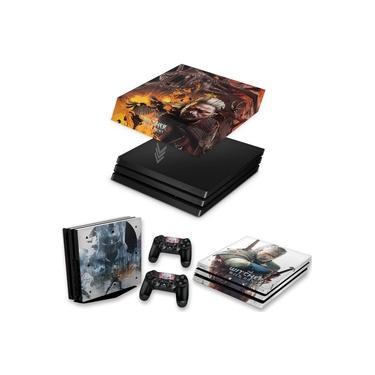 Capa Anti Poeira e Skin para PS4 Pro - The Witcher #B