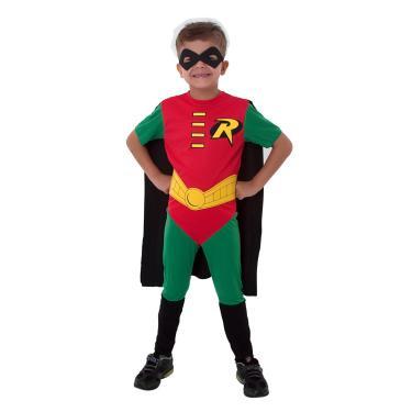 Imagem de Fantasia Robin Infantil - Liga da Justiça P