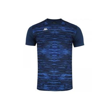 Camisa Kappa Jenner Masculina - Azul