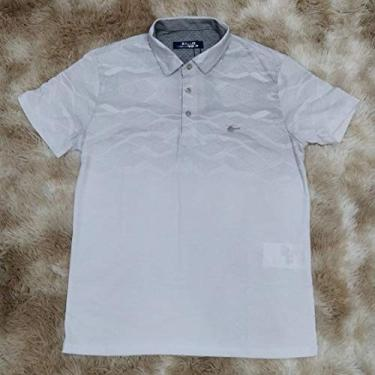 Camisa polo com estampa - Sallo (G, Preto)